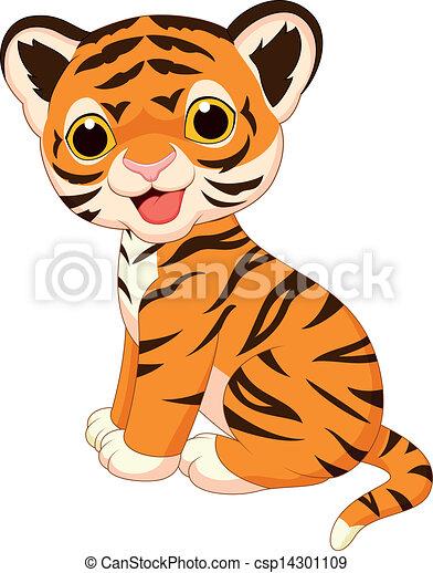 Bonita caricatura del tigre - csp14301109