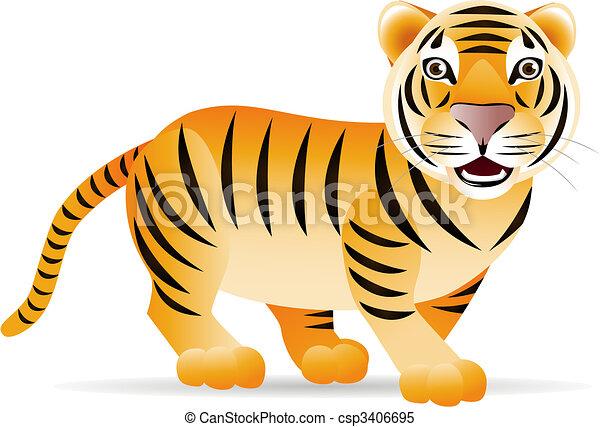 Lindo tigre - csp3406695