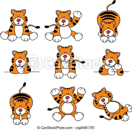 Lindo juego de dibujos animados - csp6481781