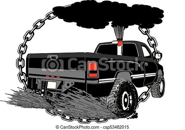 Tirando de un camión para Canstock - csp53482015