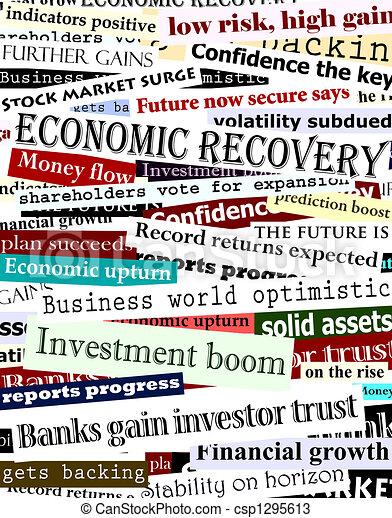 Los titulares de la recuperación financiera - csp1295613