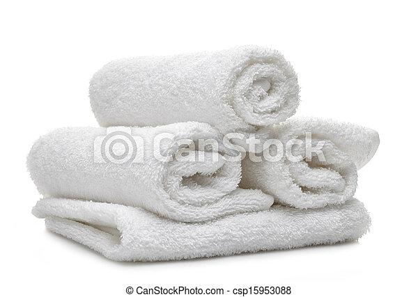 Toallas de spa blancas - csp15953088