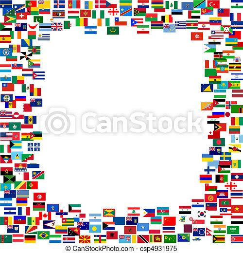 Todas las banderas enmarcadas - csp4931975