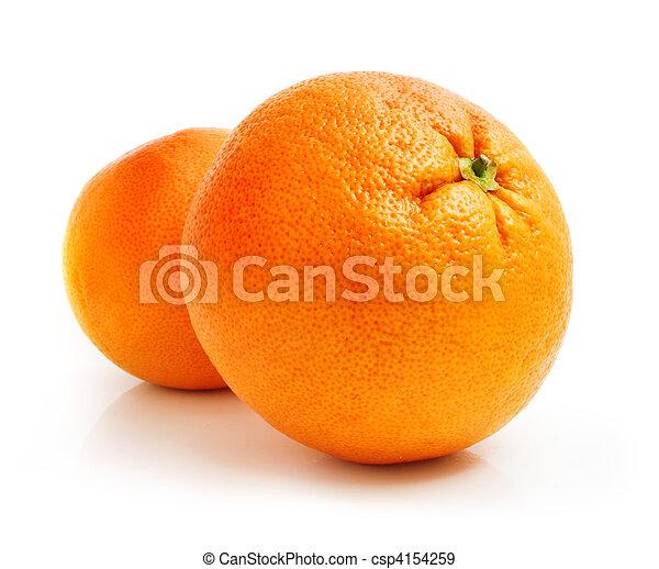Fruta fresca de pomelo aislada en blanco - csp4154259