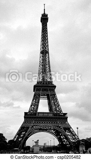 Torre Eiffel en París, Francia - csp0205482