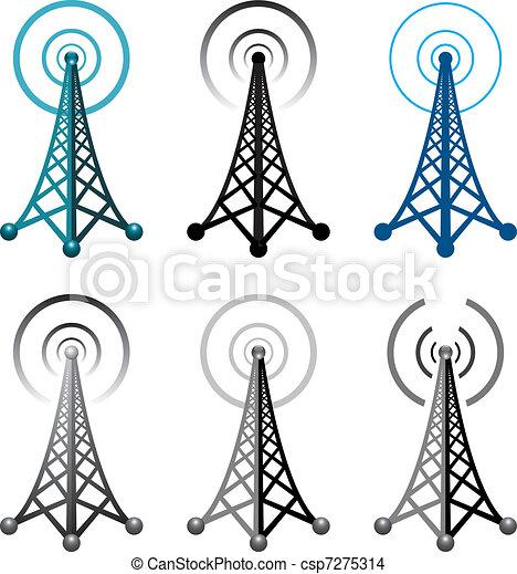 Simbolos de la torre de radio - csp7275314