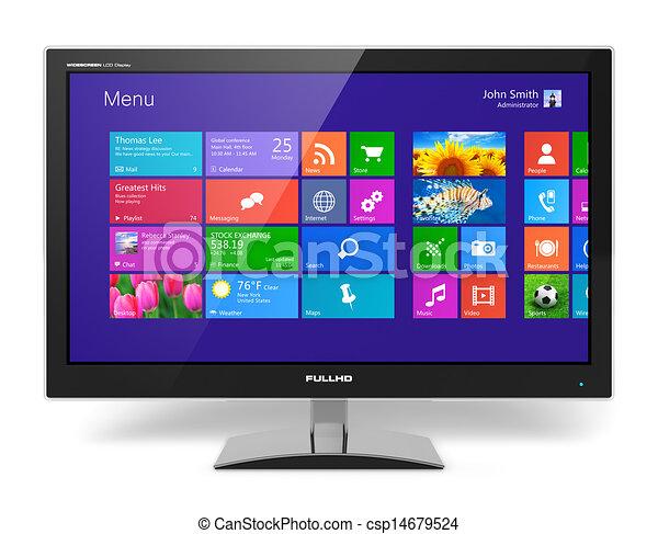 Monitorea con interfaz de pantalla de contacto - csp14679524
