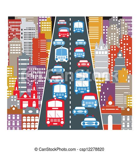 Tráfico automovilístico - csp12278820