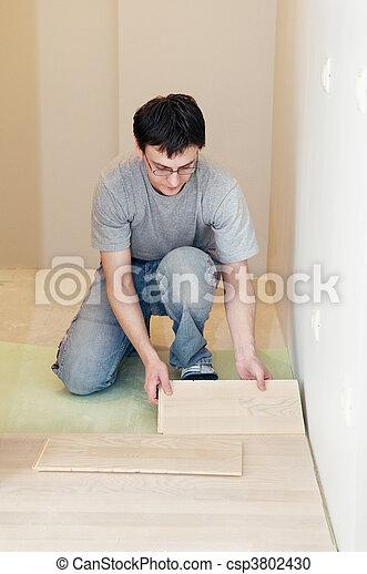 El piso funciona con tabla laminada - csp3802430