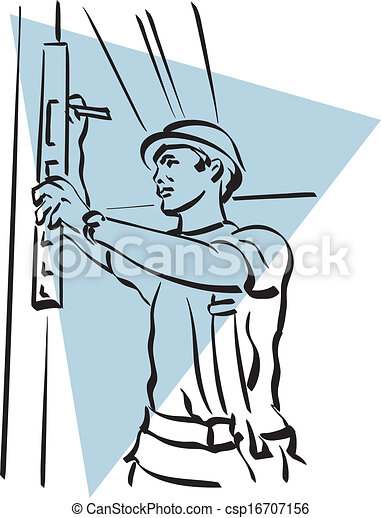 Trabajador de construcción - csp16707156