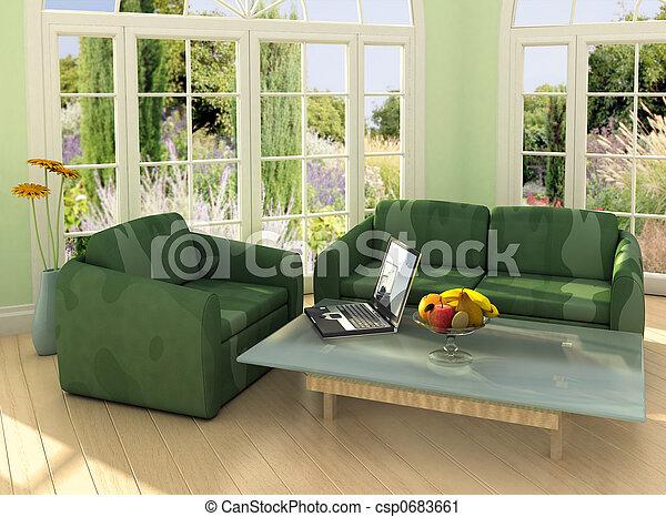 Trabajando desde casa - csp0683661