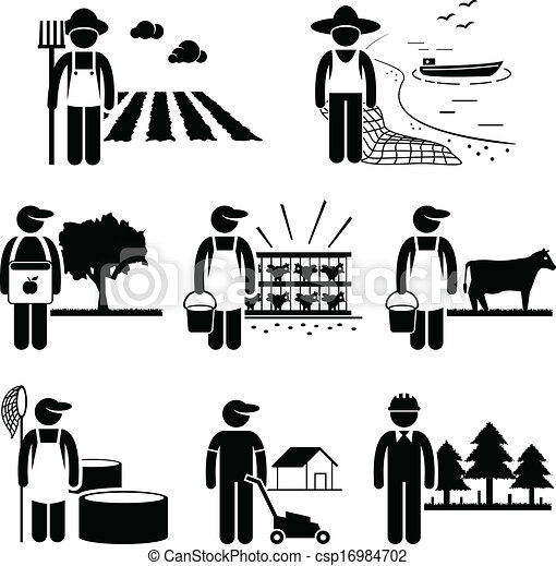 Trabajo de plantación agrícola - csp16984702