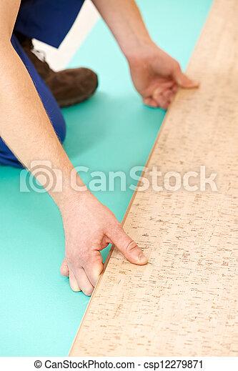 Trabajo de suelo de corcho - csp12279871