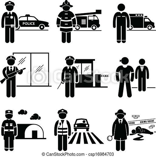 Trabajos de seguridad pública - csp16984703