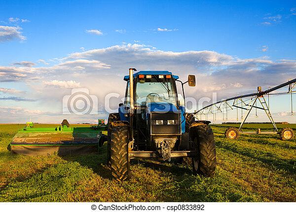 Granjero tractor - csp0833892