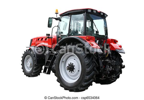 tractor rojo - csp6534064