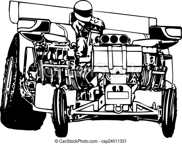 Tractor tirando - csp24011331