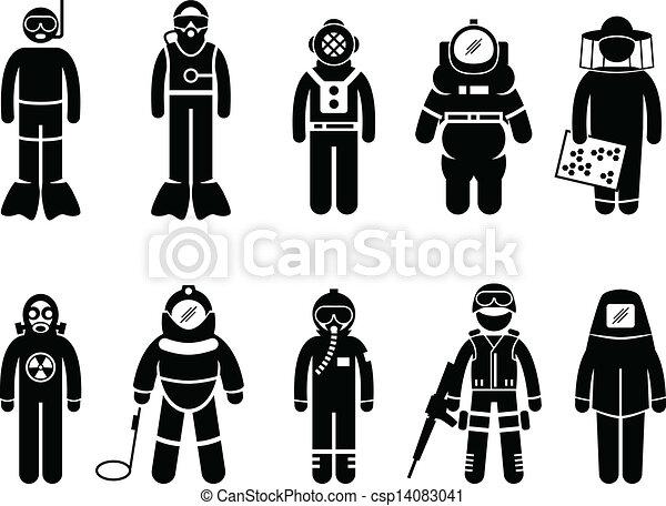 Vestido de traje protector - csp14083041