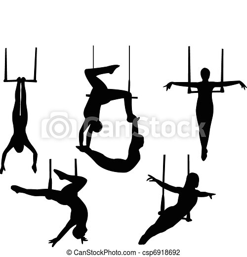 Trapeze silueta - csp6918692