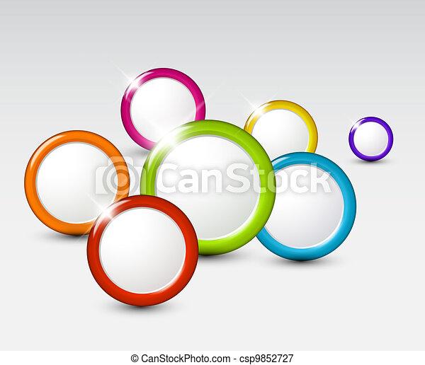 Trasfondo abstracto vector con círculos - csp9852727