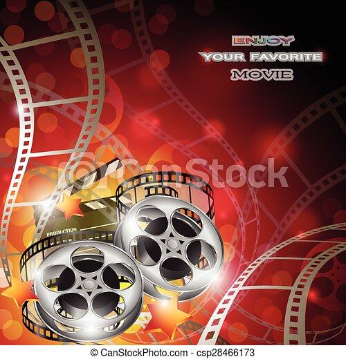 Trasfondo de cine abstracto - csp28466173