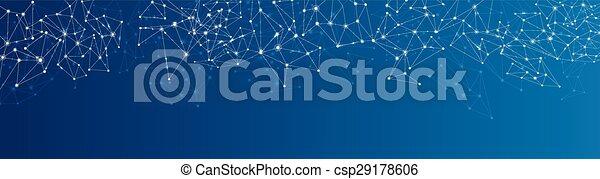 Trasfondo de la red social azul. - csp29178606