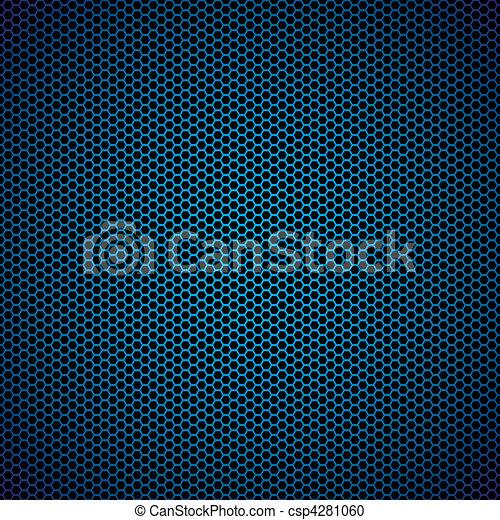 Trasfondo de metal azul hexágono - csp4281060