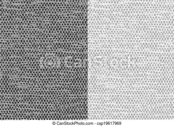 Trasfondo de tela lino de tela abstracto. Vector. - csp19617969
