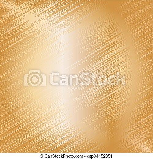 Trasfondo de textura de metal dorado. Ilustración de vectores - csp34452851