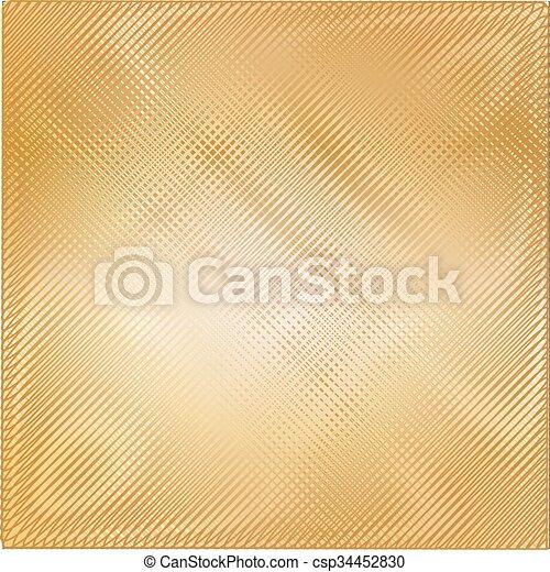 Trasfondo de textura de metal dorado. Ilustración de vectores - csp34452830