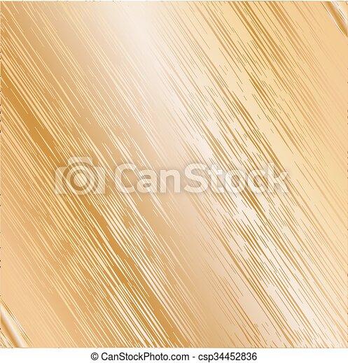 Trasfondo de textura de metal dorado. Ilustración de vectores - csp34452836