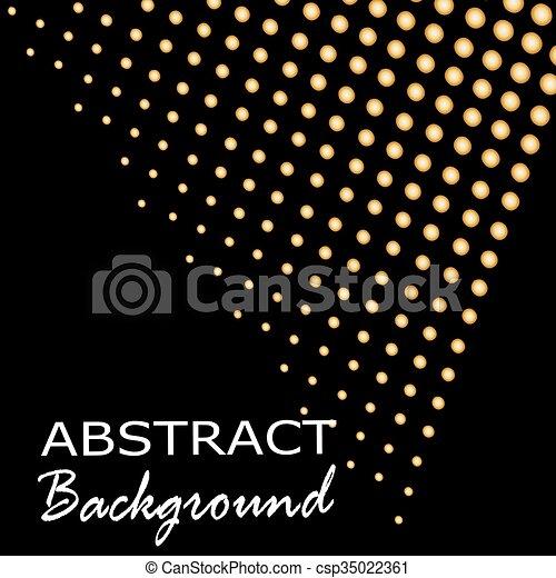 Trasfondo de triángulo abstracto. Antecedentes de oro. Ilustración de vectores - csp35022361
