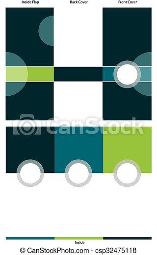 Trasfondo fronterizo azul triplicado - csp32475118