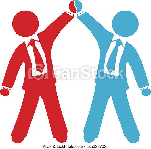 Los empresarios celebran el éxito del acuerdo - csp6237825