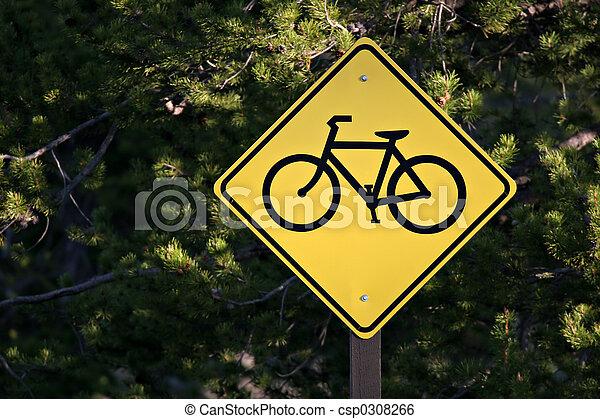 Sólo camino de bicicletas - csp0308266
