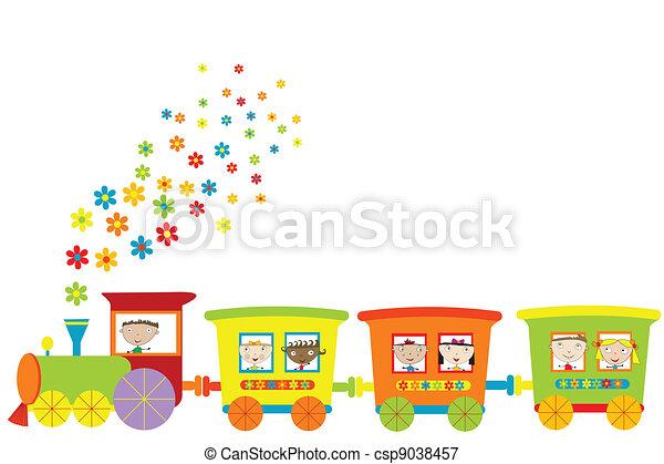 Entrenar con niños felices - csp9038457