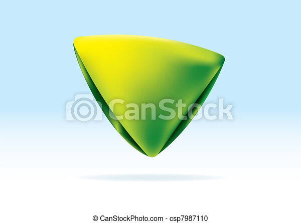 Triángulo verde orgánico - csp7987110