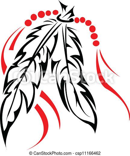 Plumas tribales. - csp11166462