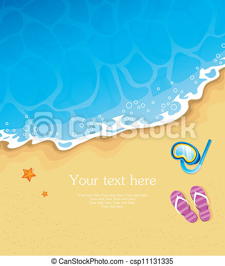 Estandarte tropical de verano - csp11131335