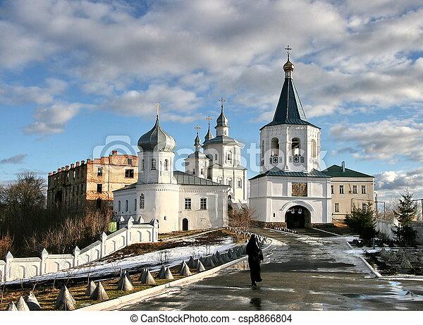 Molchansky o silencioso monasterio de la natividad de la madre de Dios en putivl, ukraine - csp8866804