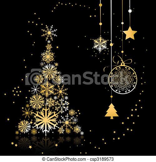 Un árbol de Navidad hermoso - csp3189573