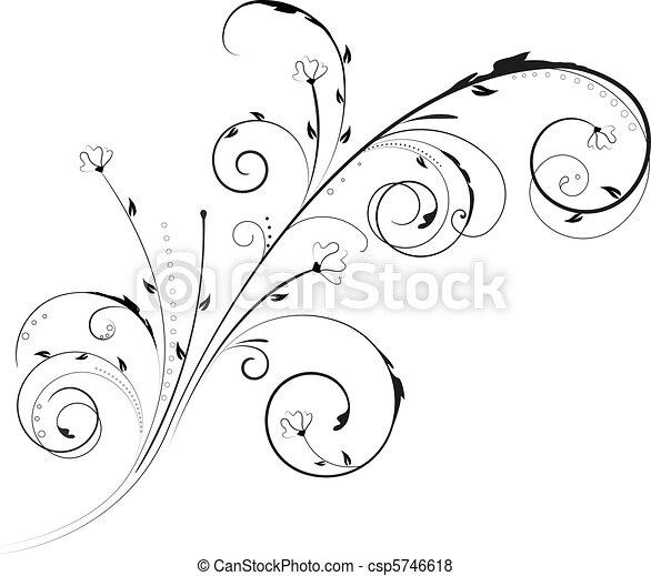 Un adorno floral - csp5746618