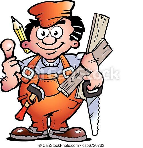 Un ayudante carpintero - csp6720782