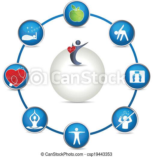 Un brillante círculo de salud - csp19443353