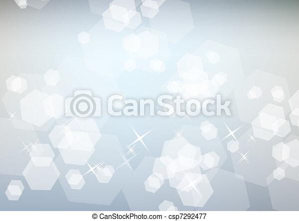Un brillante fondo festivo con brillo blanco - csp7292477