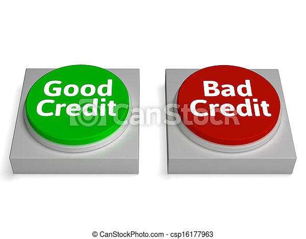 Un buen crédito malo muestra antecedentes financieros - csp16177963