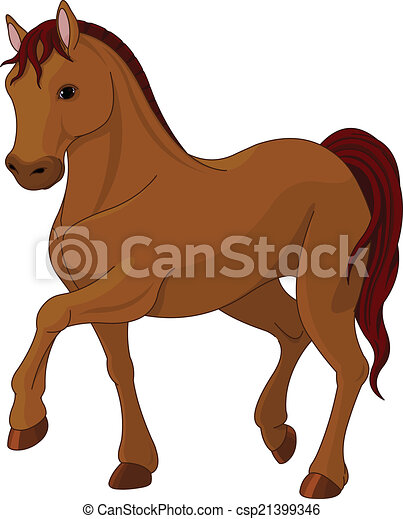 Un caballo pura sangre - csp21399346