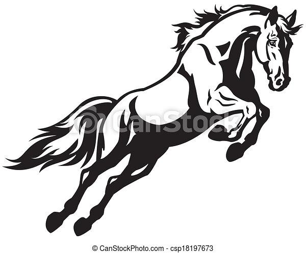 Un caballo saltarín - csp18197673