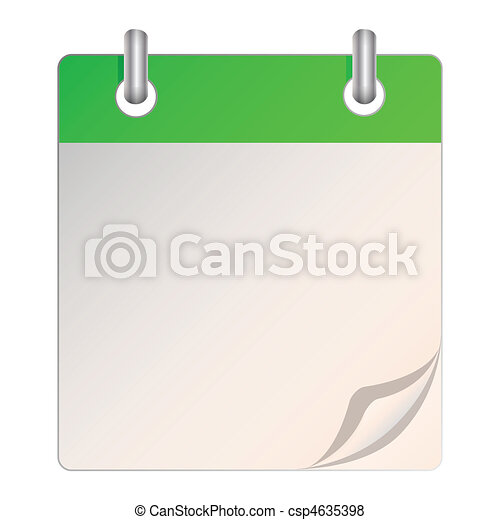 Un calendario en blanco - csp4635398