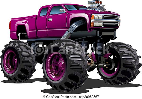 Un camión de monstruos - csp20952567